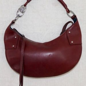 GUCCI Burgundy Half Moon Shoulder handbag ITALY